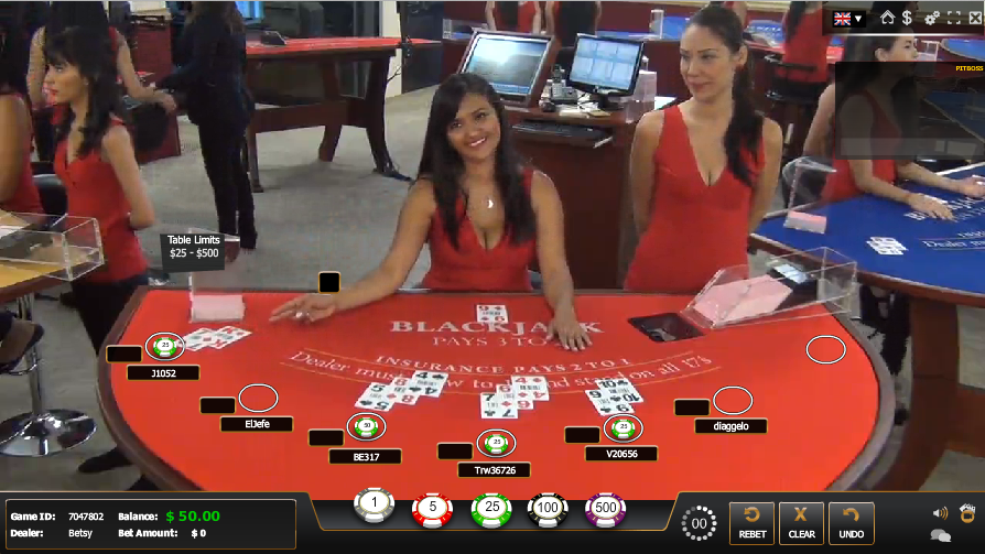 live casino screenshot