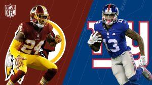 NY Giants vs Redskins 2017