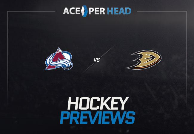 Colorado Avalanche vs Anaheim Ducks