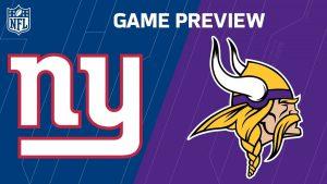 Giants at Vikings Odds